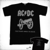 "Koszulka AC/DC ""For those about to Rock"" (szare)"